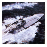 Power Boat Pioneers Giclee Print by Graham Coton