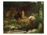 Early Lovers Reproduction proc&#233;d&#233; gicl&#233;e par Eastman Johnson