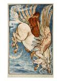Bellerophon on Pegasus Giclee Print by Walter Crane