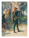 Robin Hood Giclee Print by Robert Hope