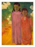Piti Tiena, 1892 Reproduction procédé giclée par Paul Gauguin