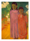 Piti Tiena, 1892 Giclee Print by Paul Gauguin