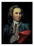 Johann Sebastian Bach Reproduction proc&#233;d&#233; gicl&#233;e par Johann Ernst Reutsch