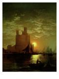 Moonlit Scene Giclee Print by  Moran