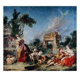 Fountain of Love, 1748 Reproduction procédé giclée par Francois Boucher