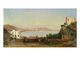 The Bay of Naples Giclee Print by Giacinto Gigante