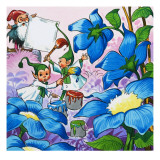 Painting Flowers Giclee Print by  English School