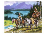Trappers in the Wild West Giclee Print by Ron Embleton