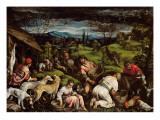 Spring, 1576 Giclée-tryk af Francesco Bassano