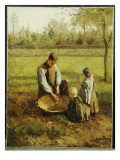 Watching Father Work Giclee Print by Albert Jan Neuhuys