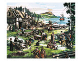 The American Settlers Giclee Print by Ron Embleton