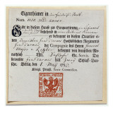 Billeting Voucher, 1759 Giclee Print by  German School