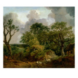 Wooded Landscape Giclee Print by Thomas Gainsborough