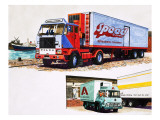 Refrigerated Trucks Giclee Print by  English School