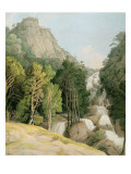 Lodore Falls Premium Giclee Print by Francis Towne