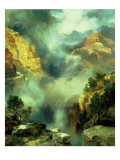 Mist in the Canyon, 1914 Premium Giclee Print by  Moran