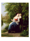Mother and Son Giclee Print by Fritz Zuber-Buhler