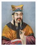 Chinese School - Konfucius Digitálně vytištěná reprodukce