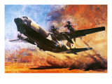 The Lockheed Hercules Giclee Print by Graham Coton