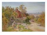 A Rest by the Way Giclee Print by Charles James Adams
