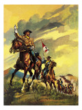 Custer's Last Stand Giclee Print by  English School