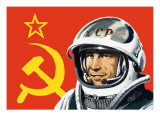 Yuri Gagarin Giclee Print by Wilf Hardy