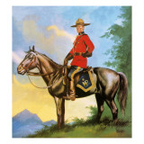 Canadian Mounty Giclee Print by Ron Embleton