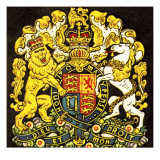 British Coat of Arms Giclee Print by  English School