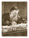 Leo Tolstoy Giclee Print by Nikolai Nikolaevich. Ge