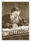 Leo Tolstoy Giclee Print by Nikolai Nikolaevich. Ge