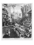 Gin Lane, 1751 Premium Giclee Print by William Hogarth