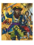 Blackbeard Giclee Print by Richard Hook