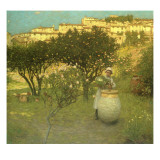 December in Provence Giclee Print by Henry Herbert La Thangue
