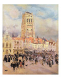 Northern Town Giclee Print by Jean Francois Raffaelli