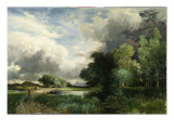 Approaching Storm Clouds Premium Giclee Print by  Moran
