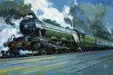 The Flying Scotsman Reproduction procédé giclée par John S. Smith