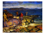 Dock Builders, 1925 Giclee Print by George Wesley Bellows