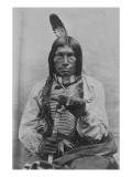 Low Dog War Chief Premium Giclee Print by David Frances Barry
