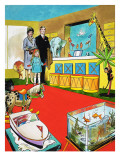 Visiting a Toy Shop Giclee Print by Jesus Blasco