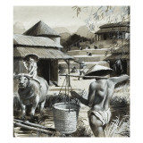 Farming in China Giclee Print by Andrew Howat