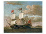 The British Man-O'-War Giclee Print by Willem Van De, The Younger Velde