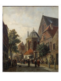 A Dutch Street Scene, 1867 Giclee Print by Adrianus Eversen
