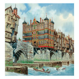 Old London Bridge Giclee Print by Peter Jackson