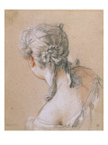 Head of a Girl from Behind Giclee Print by Francois Boucher