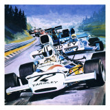 Grand Prix Race Giclee Print by Graham Coton