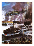 Escape from Dunkirk Giclee Print by Graham Coton