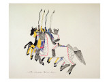 An Indian Horse Dance Giclee Print by Kills Two
