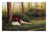 A Rest after Boating, 1885 Giclee Print by Georges Croegaert