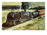 Train Giclee Print by John S. Smith