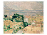 View of L'Estaque Premium Giclee Print by Paul Cézanne